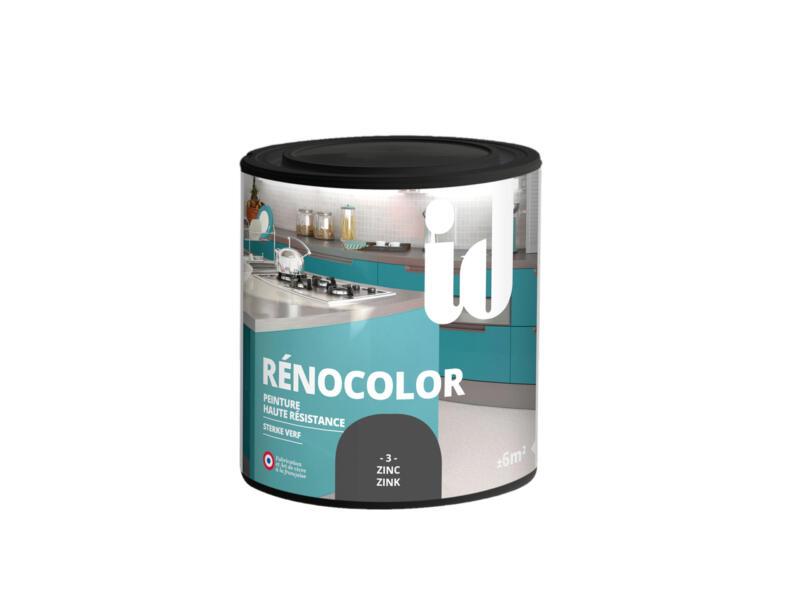 Rénocolor renovatieverf hout en MDF 0,45l zink