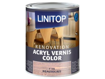 Linitop Renovation vernis acryl zijdeglans 0,75l beaujolais #188