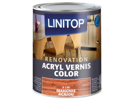 Linitop Renovation vernis acryl zijdeglans 0,75l mahonie #176