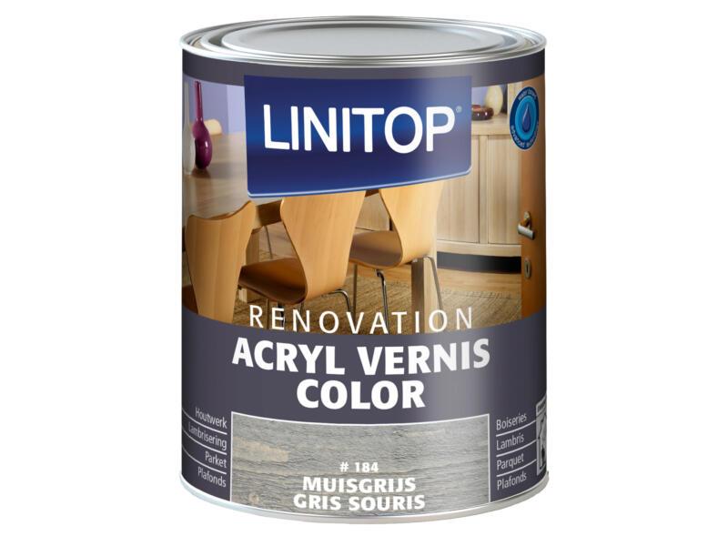 Linitop Renovation vernis acryl zijdeglans 0,75l muisgrijs #184