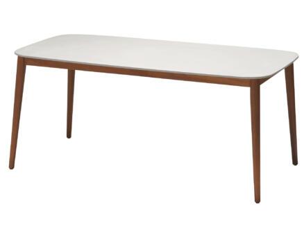 Garden Plus Richmond table de jardin 170x90 cm blanc