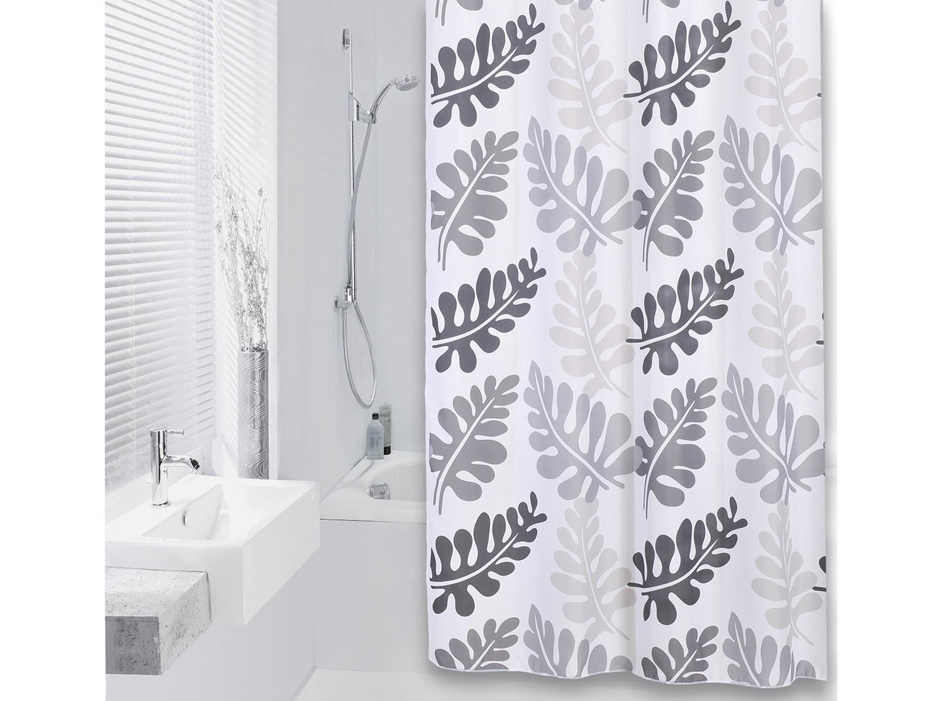Longueur rideau de douche x cm zen eau bambou d imprim - Tringle a rideau grande longueur ...