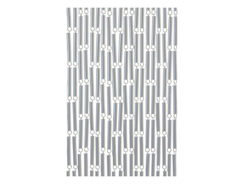 Sun-Arts Rideau de porte 100x232 cm argent décalé