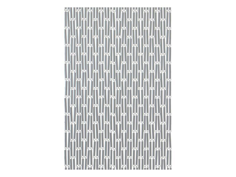 Sun-Arts Rideau de porte 90x210 cm argent décalé