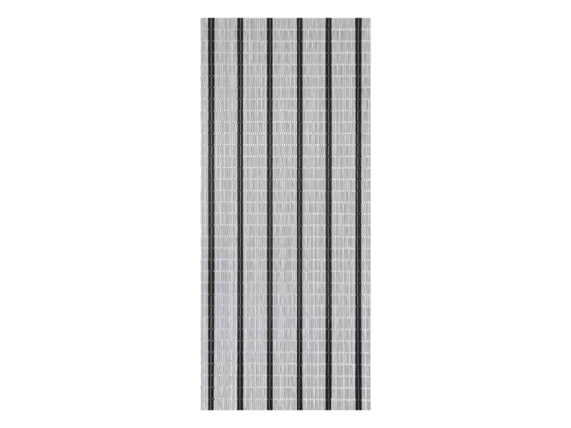 Sun-Arts Rideau de porte 90x210 cm blanc/noir/argent