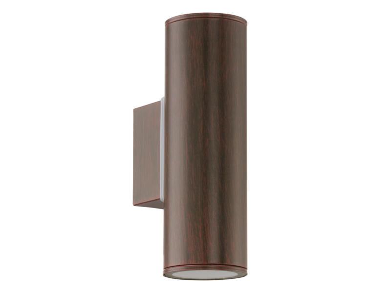 Eglo Riga LED wandlamp GU10 2x3 W bruin