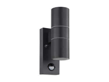 Eglo Riga5 LED wandlamp 2x3 W met sensor zwart