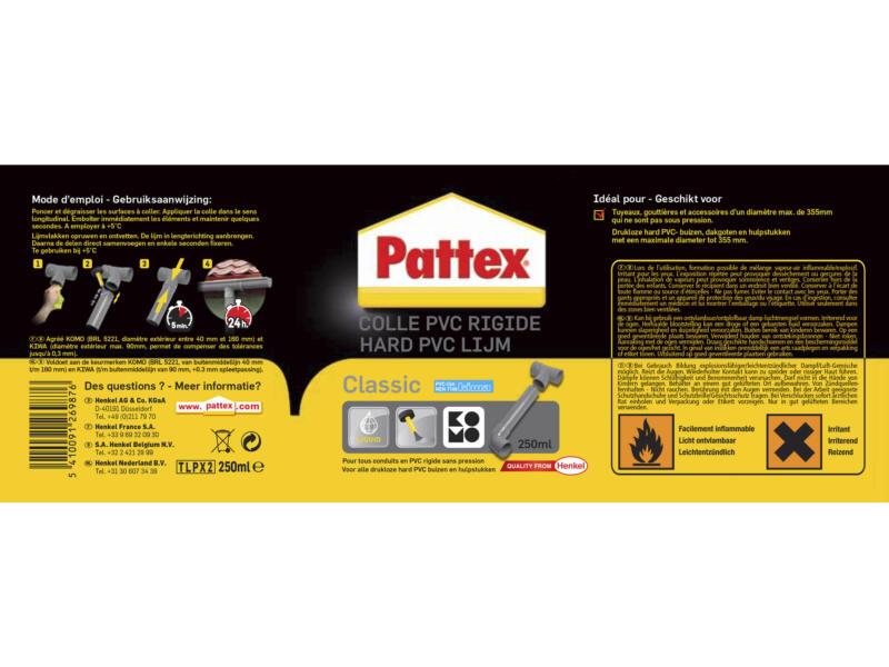Pattex Rigide Classic colle PVC 250ml
