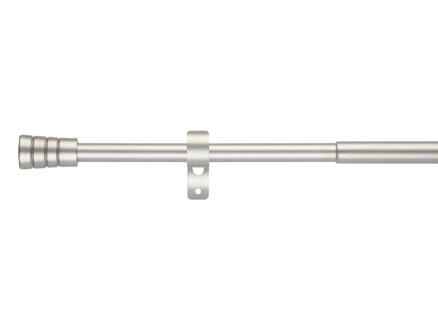 Rillmino gordijnroede uitschuifbaar 120-210cm inox