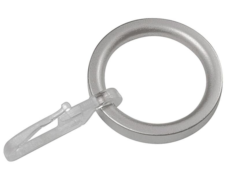 Ringen voor gordijnroede 16/20 mm inox look 10 stuks