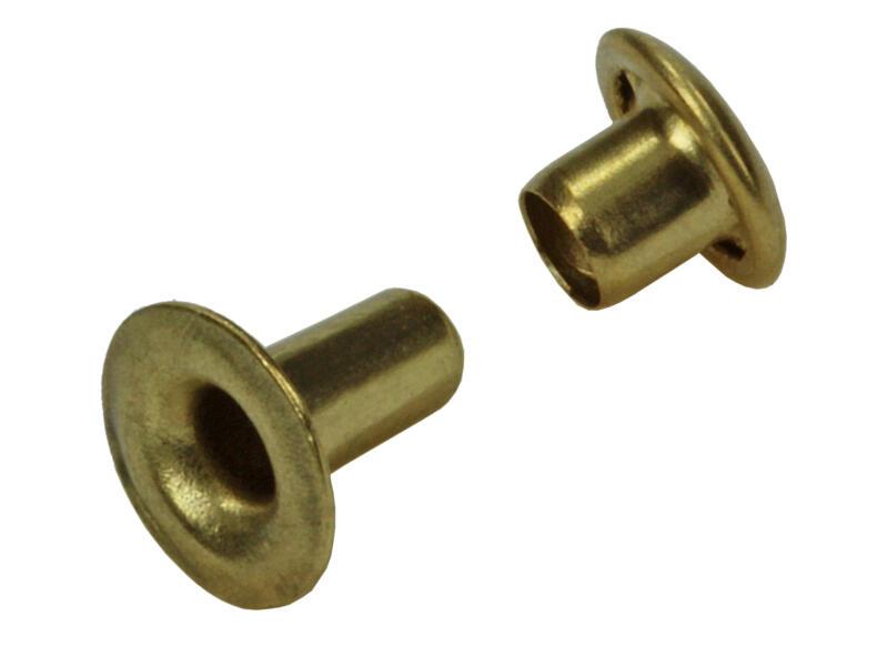 Sam Rivet 3,3x7 mm laiton 11 pièces