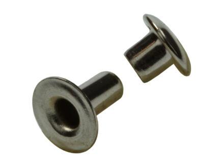 Sam Rivet 3,3x7 mm nickelé 11 pièces