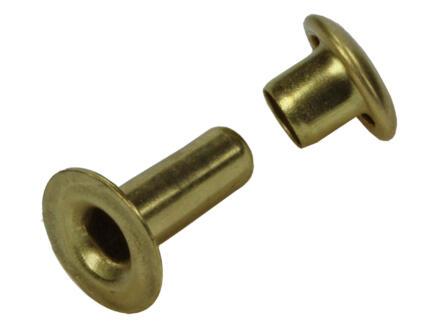 Sam Rivet 3,3x9 mm laiton 10 pièces
