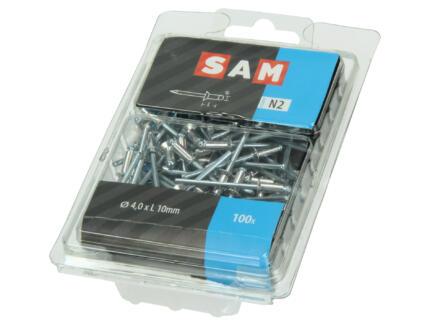 Sam Rivet aveugle 4x10 mm aluminium 100 pièces