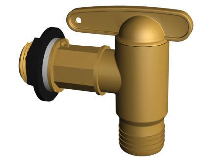 Garantia Robinet pour récupérateur d'eau de pluie imitation laiton 3/4