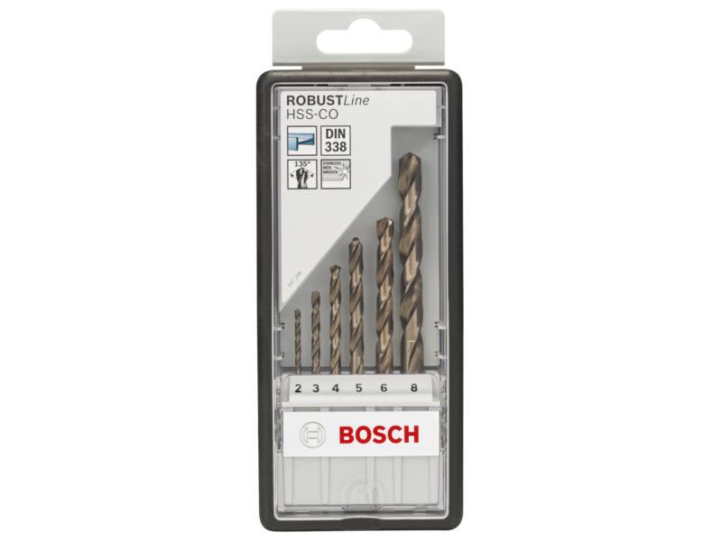 Bosch Professional Robust Line forets à métaux HSS-Co 2-8 mm set de 6