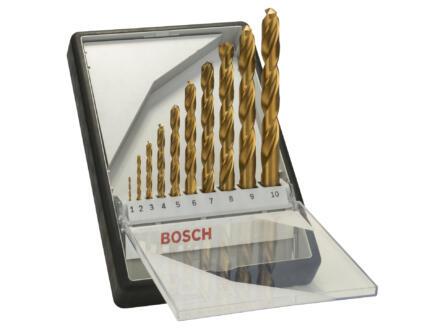 Bosch Professional Robust Line forets à métaux HSS-TiN 1-10 mm set de 10
