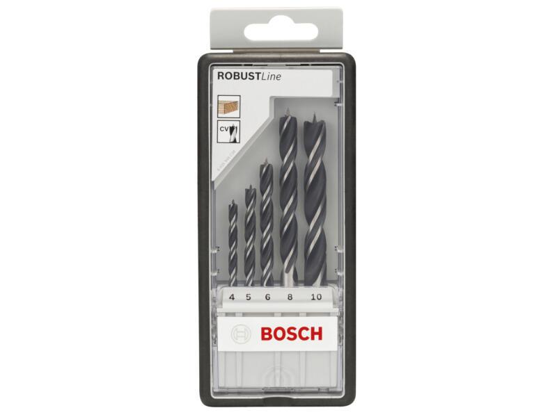 Bosch Professional Robust Line mèches à bois 4-10 mm set de 5