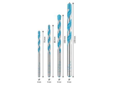 Bosch RobustLine CYL9 Multiconstruction steenborenset 4-8 mm 4-delig