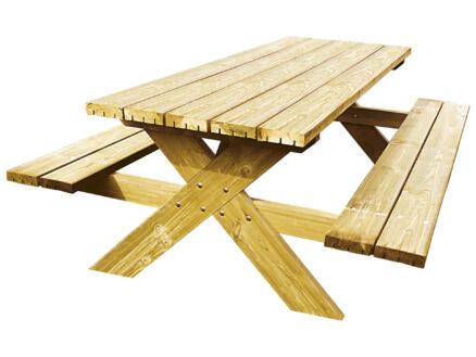 Gardenas Robusto table de pique-nique 200x150 cm brun