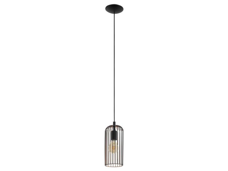 Eglo Roccamena hanglamp E27 max. 60W zwart/koper
