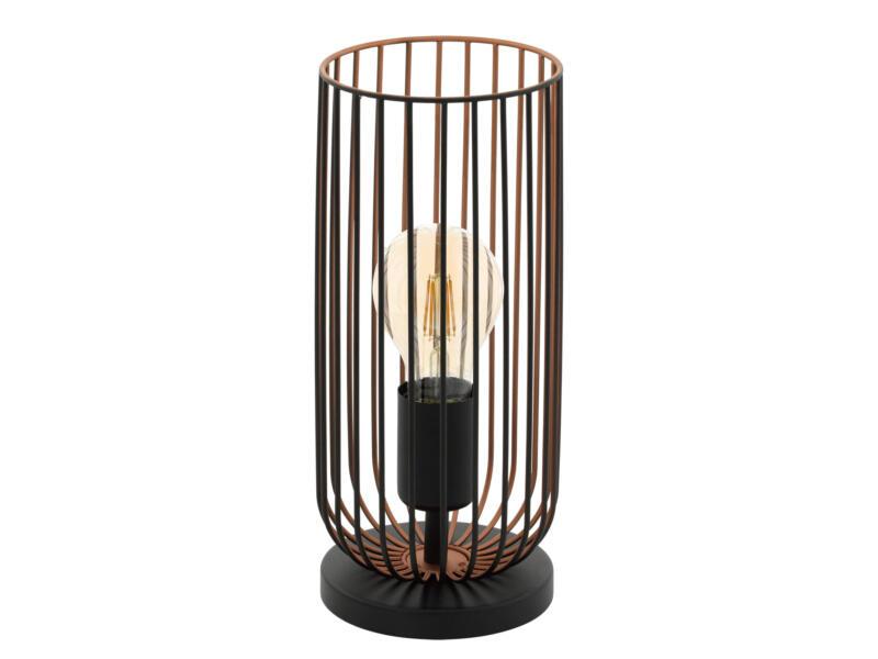 Eglo Roccamena tafellamp E27 max. 60W zwart/koper