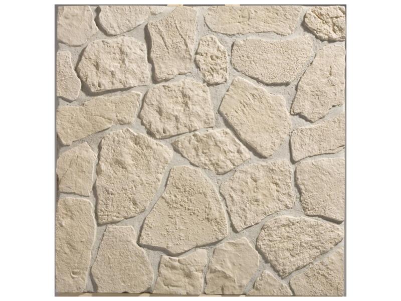 Rodos steenstrip 1m² beige 22 stuks