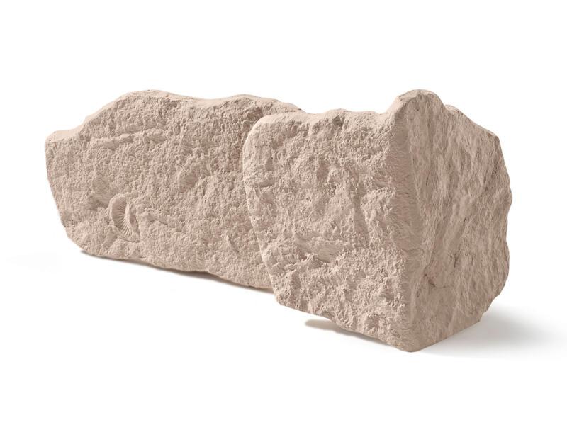 Rodos steenstrip hoek beige 10 stuks