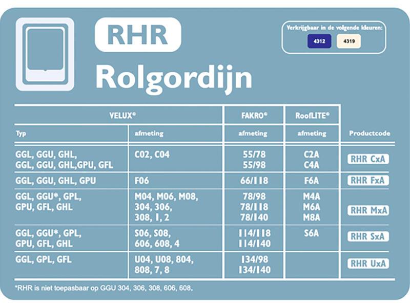 Contrio Rolgordijn dakraam RHR MXA donkerblauw