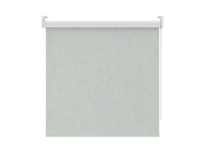Decosol Rolgordijn verduisterend 90x190 cm wit bloem
