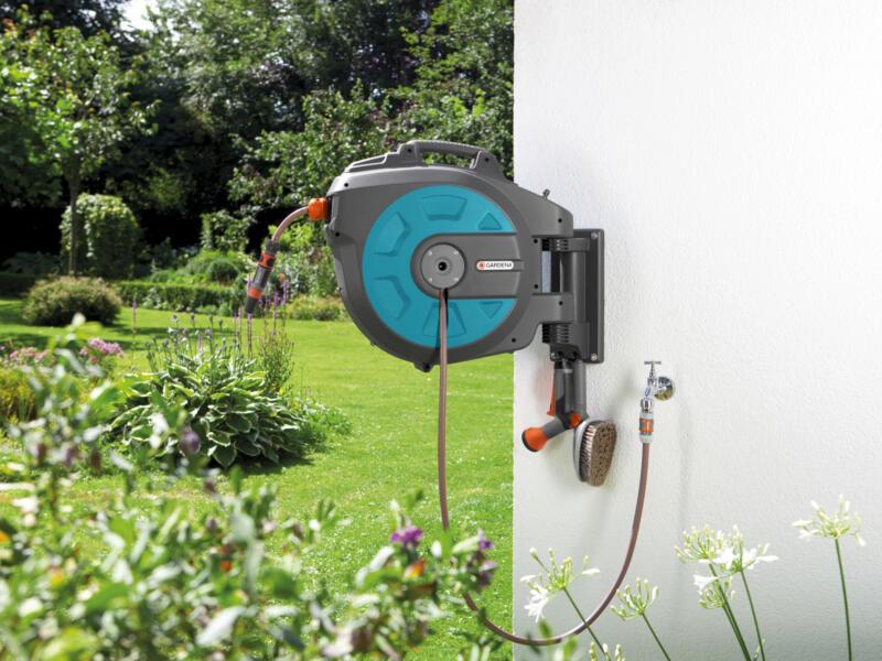 Gardena Roll-Up muurhaspel met tuinslang 35m automatisch
