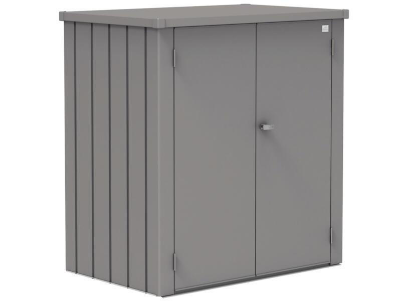 Biohort Romeo L rangement extérieur 132x140x87 cm métal gris quartz