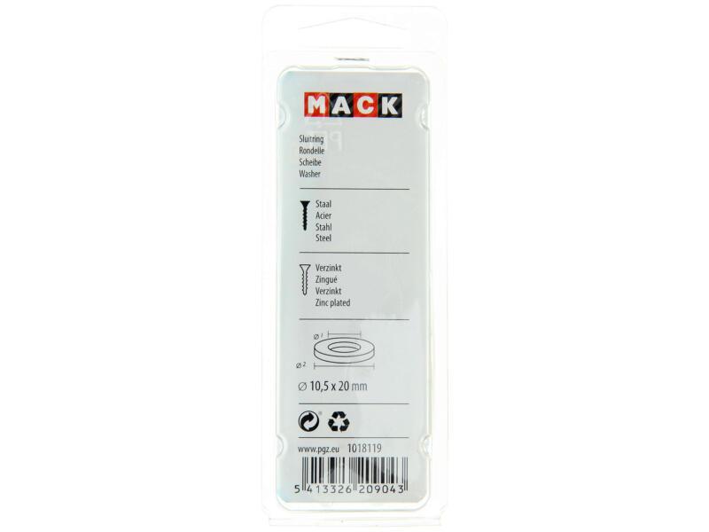 Mack Rondelles 10,5x20 mm zingué 50 pièces