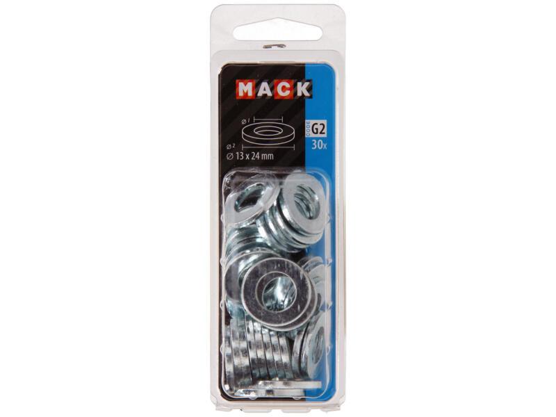 Mack Rondelles 13x24 mm zingué 30 pièces