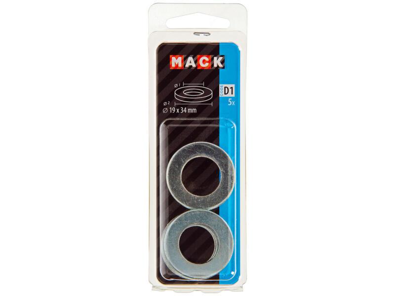 Mack Rondelles 19x34 mm zingué 5 pièces