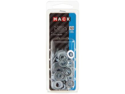 Mack Rondelles 7,4x14 mm zingué 100 pièces