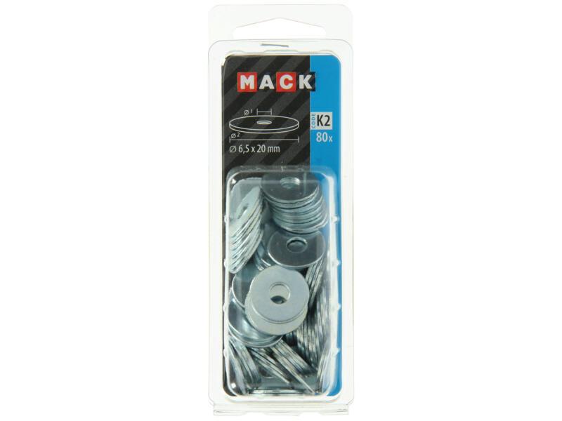 Mack Rondelles carrosserie 6,5x20 mm zingué 80 pièces