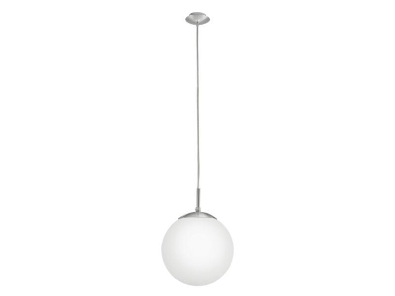 Eglo Rondo hanglamp E27 max. 60W 20cm nikkel mat wit