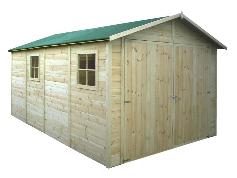 Gardenas Rorvik XL garage 300x600x246 cm bois imprégné