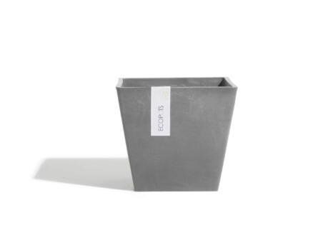 Ecopots Rotterdam bloembak 30x30 cm grijs