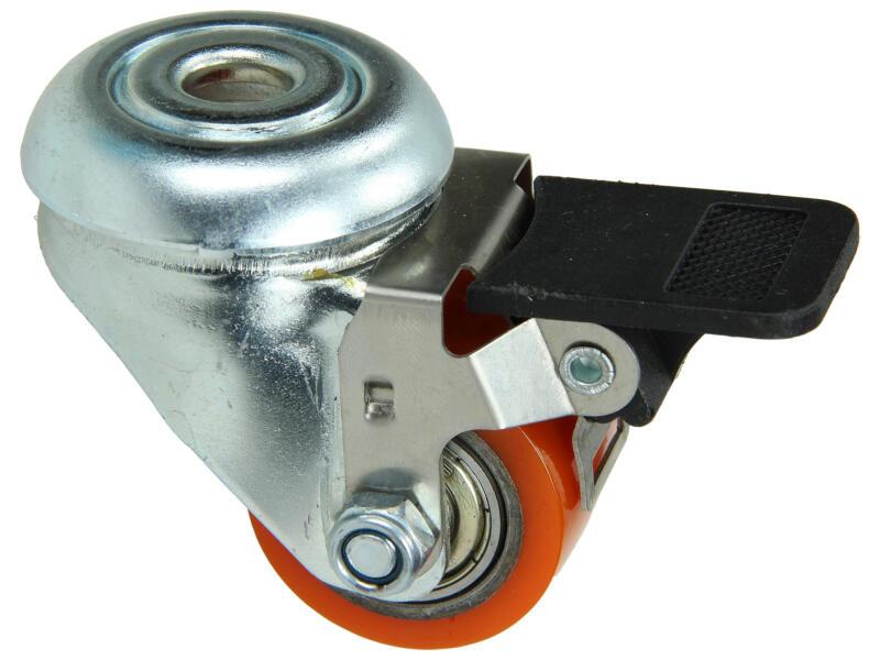 Tente Roulette à frein 35mm trou et billes doubles