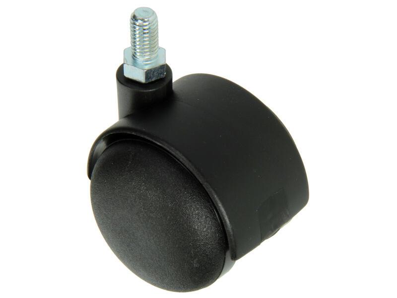 Tente Roulette double 50mm fileté polyamide