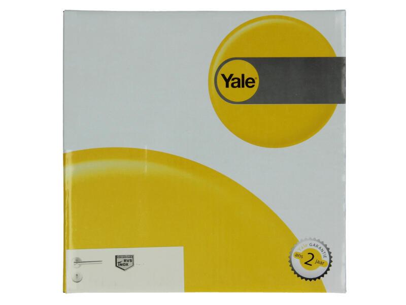 Yale Roy BB deurklinkset op rozet 53mm inox