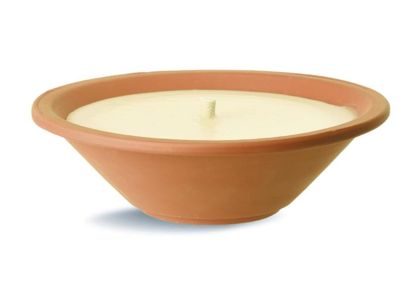 Royal Flame bougie extérieure pot en terre cuite 23cm ivoire