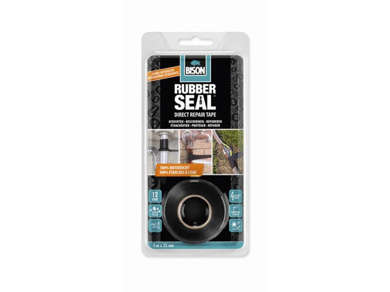 Bison Rubber Seal Direct Repair Tape reparatietape 3m 2,5cm