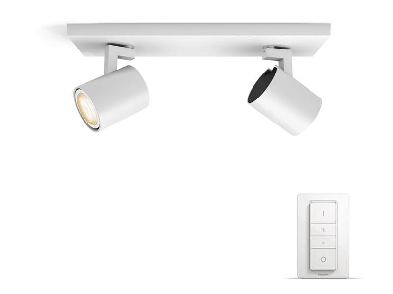 Philips Hue Runner barre de spots LED GU10 2x5,5W blanc + dimmer