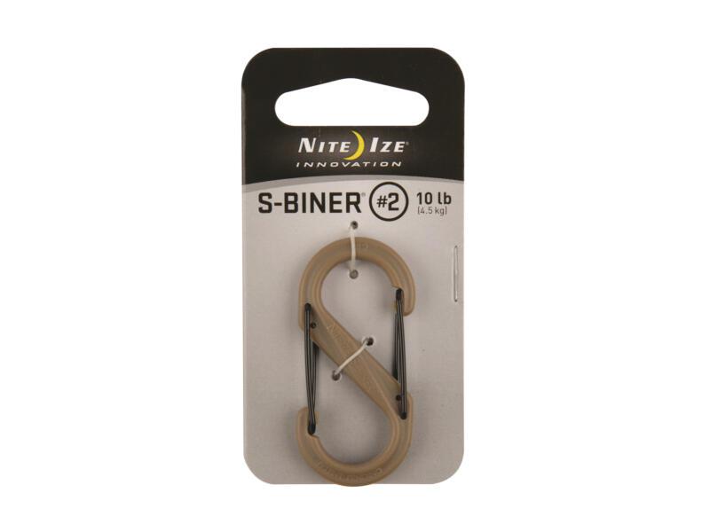 Nite Ize S-Biner S-karabijnhaak 24,13x50,8 mm kunststof bruin