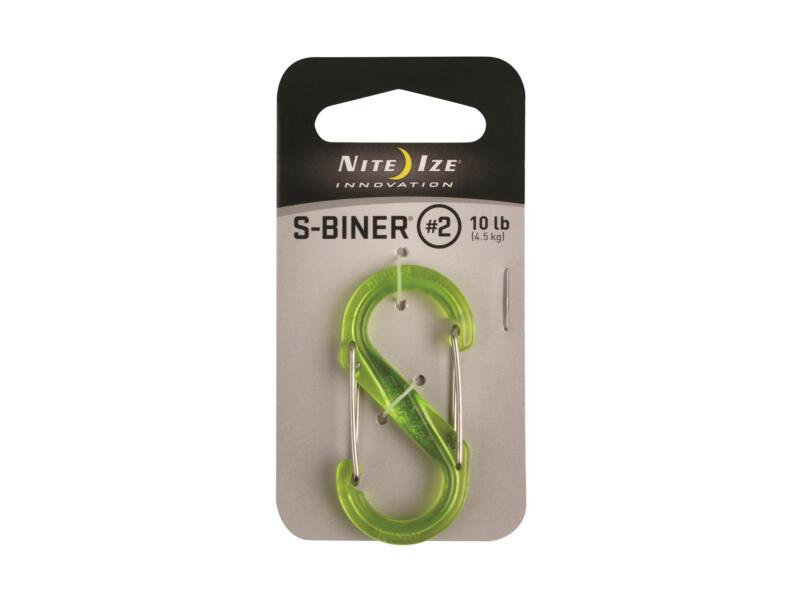 Nite Ize S-Biner S-karabijnhaak 51,69x24,54x6,16 mm kunststof groen