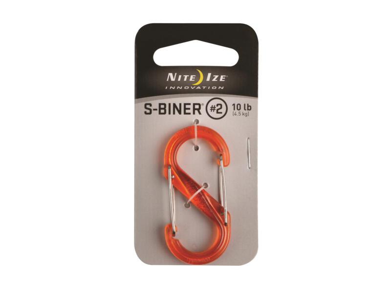 Nite Ize S-Biner S-karabijnhaak 51,69x24,54x6,16 mm kunststof oranje