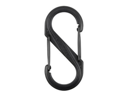 S-Biner mousqueton S 40,64x87,63 mm matière synthétique noir